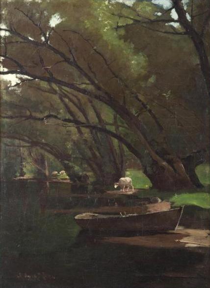 Emil Carlsen : Under the willows, 1876.