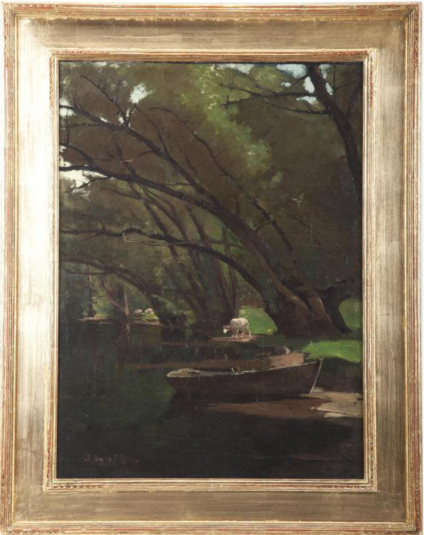 Emil Carlsen Under the Willows, 1875