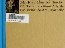 "1916 Department of Fine Arts, San Francisco, CA, ""Post-Exposition Exhibition in the Department of Fine Arts, Panama-Pacific International Exposition"", January 1 – May 1"