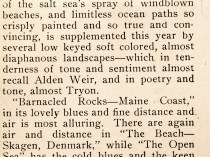 "American Art News, New York, NY, ""Carlsen at Folsom's"", March 5, 1910, not illustrated"