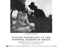 "Arts and Decoration, New York, NY, ""Exhibitions in the galleries"", February, 1914, Volume 4, Number 4, page 159, not illustrated"