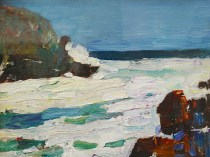 Emil Carlsen : Sea and rocks [Bald Head Cliff, York, Maine], 1930.