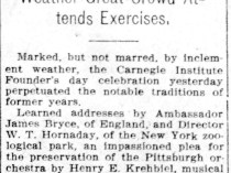 "Pittsburgh Daily Post, Pittsburgh, PA, ""Noted men assist in the observance"", Friday, May 1, 1908, page 1, not illustrated"