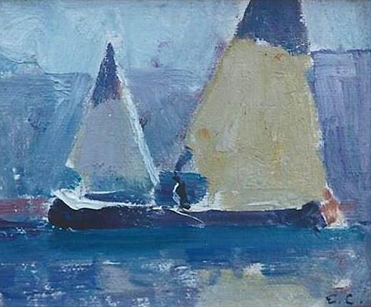 Emil Carlsen : Canoe sailing, ca.1917.