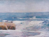 Emil Carlsen : Rocks and sea, ca.1912.