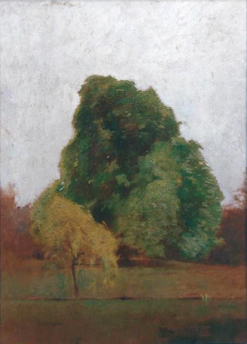 Emil Carlsen : Spring landscape, ca.1925.