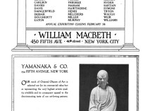 "[unknown magazine], ""Paintings by American artists : Thirty paintings by thirty artists [ad for William Macbeth Galleries]"", 1916-1917, [unknown page], [unknown date]"