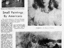 "Mansfield News-Journal, Mansfield, OH, ""Small paintings by Americans"", Sunday, October 21, 1962, page 3-4, illustrated: b&w."