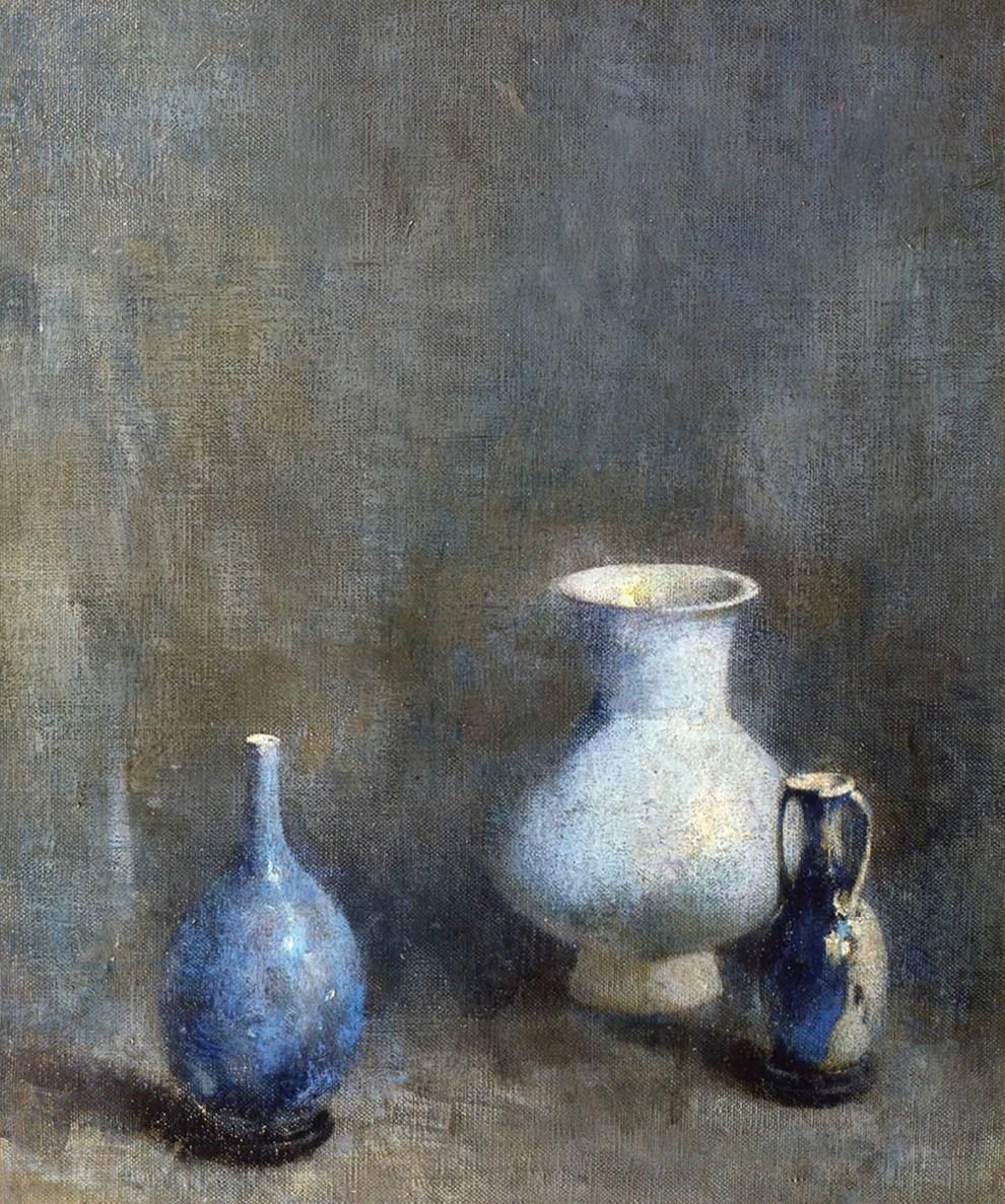 Emil Carlsen : Blue vases, ca.1919.
