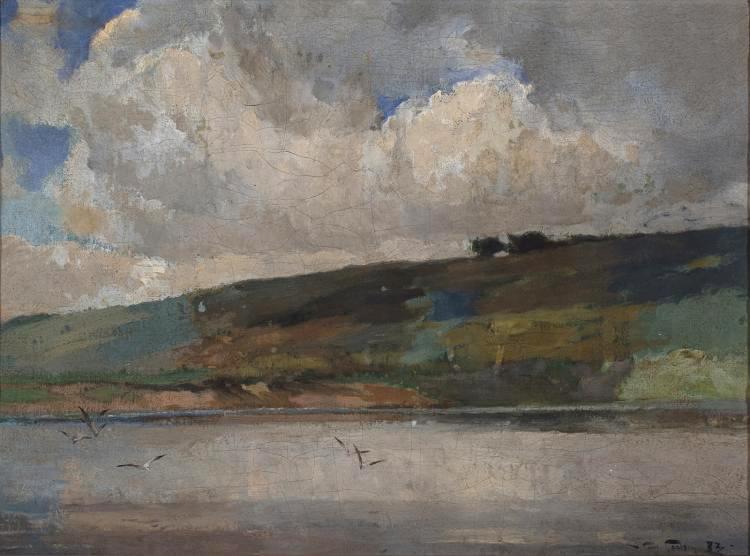 Emil Carlsen : The distant shore, 1883.