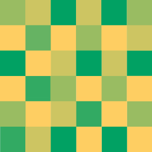 A gradient fading from green to yellow