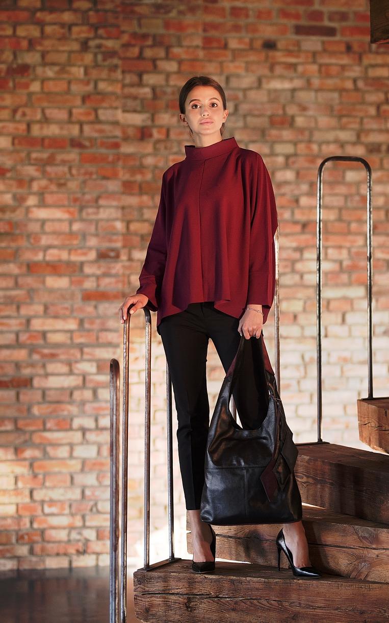 Czarna torebka shopper damska