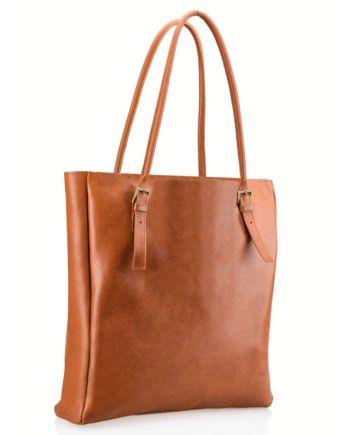 Brązowa torba shopper