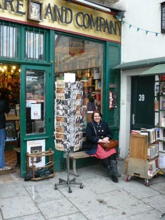 Me outside Shakespeare & Co bookstore