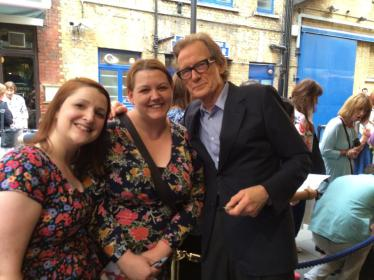 Meeting Bill Nighy after a performance of Skylight