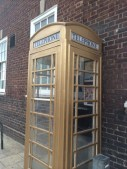 Telephone box in Hull painted gold to commemorate olympic success