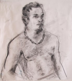 Jimmy 6, charcoal on paper, 8 by 7 in. Emilia Kallock 2013