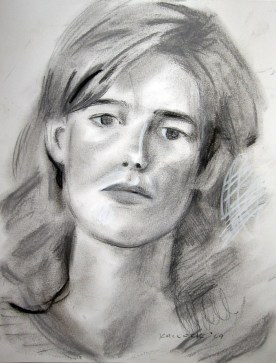 Mary Kay, charcoal on paper, 8 by 7 in. Emilia Kallock 2007