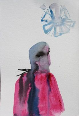 Mood Sketch 2, watercolor on paper, 8 by 5 in. Emilia Kallock 2006