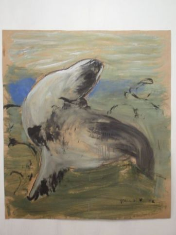 Seal, acrylic on paper, 35 by 35 in. Emilia Kallock 2003