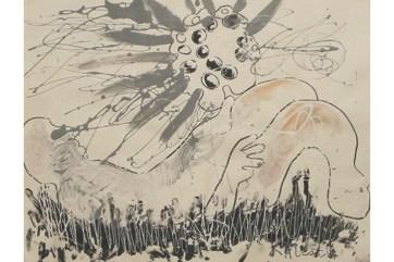 Sensure, oil on primed paper, 14 by 18 in. Emilia Kallock 2005