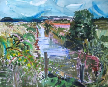Slough, watercolor and pastel on paper, 40 by 48 in. Emilia Kallock 2008
