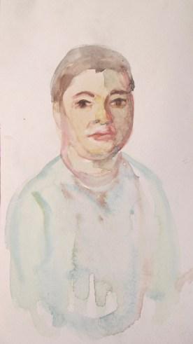 William, watercolor on paper, 10 by 6 in. Emilia Kallock 2013