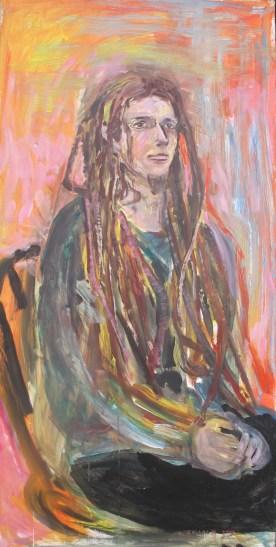 Steven 2, acrylic on board, 48 by 24 in. Emilia Kallock 2015
