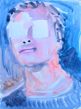 Luc, watercolor on paper, 10 by 8 in. Emilia Kallock 2015