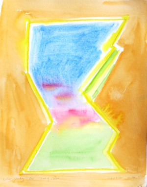Abstract (Him), watercolor on paper, 9 by 7 in. Emilia Kallock 2016