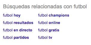 Búsquedas fútbol