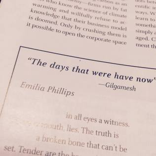 Boston Review The days that were have now