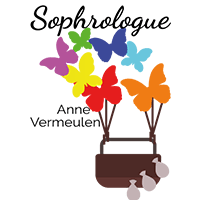 Logo de Anne Vermeulen, sophrologue réalisé par Emilia Simandy webdesigner graphiste à Lille
