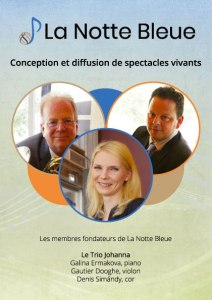Flyer de La Notte Bleue réalisée par Emilia Simandy webdesigner graphiste à Lille