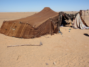 Tent of a Nomad Family