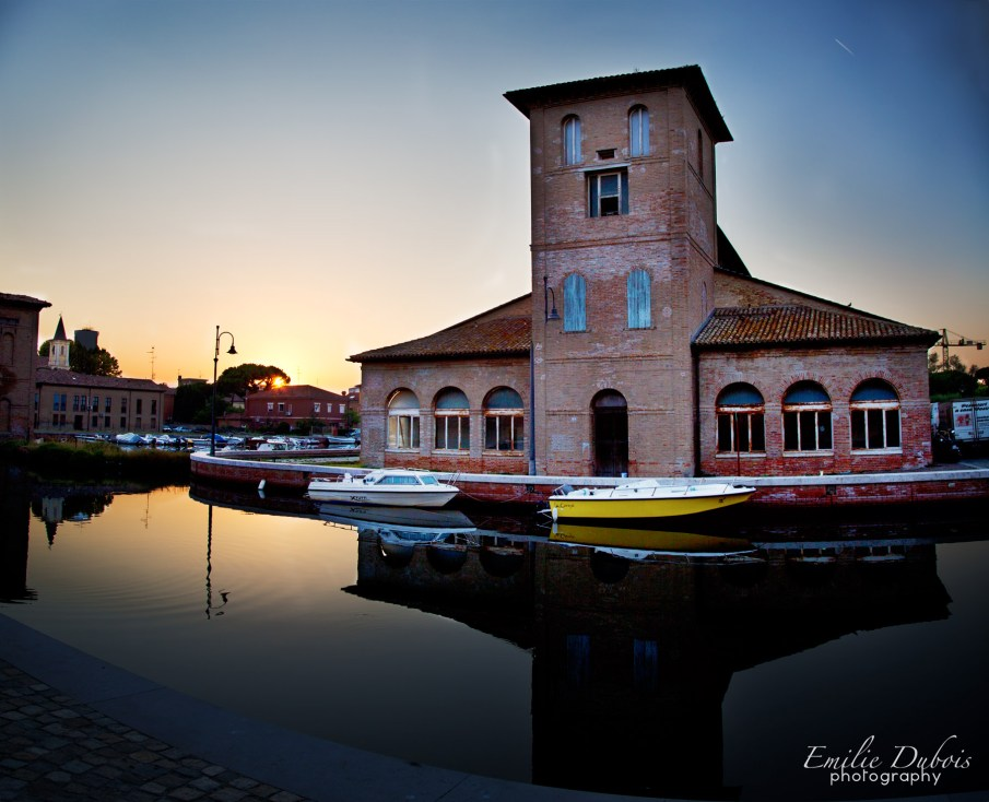 sunset cervia italy