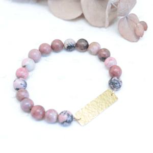 bracelet rhodonite laiton