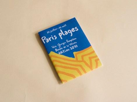couverture du dépliant pour Paris plages