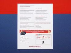 plaquette, brochure, présentation, logiciel, commercial, entreprise, gestion, voile, rouge, rose, bleu