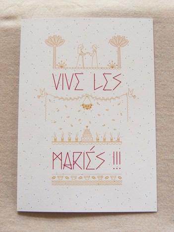 mariage, faire-part, mariés, fête, carte, livre d'or, illustration