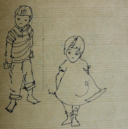 kids, Emilie Geant, illustration, sketch,