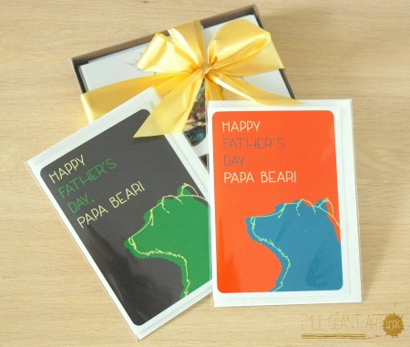 emilie geant, happy father's day, bear, papa, bear, greeting card, gift, love, dad, daddy