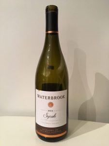 Waterbrook Syrah 2013 Wine Bottle