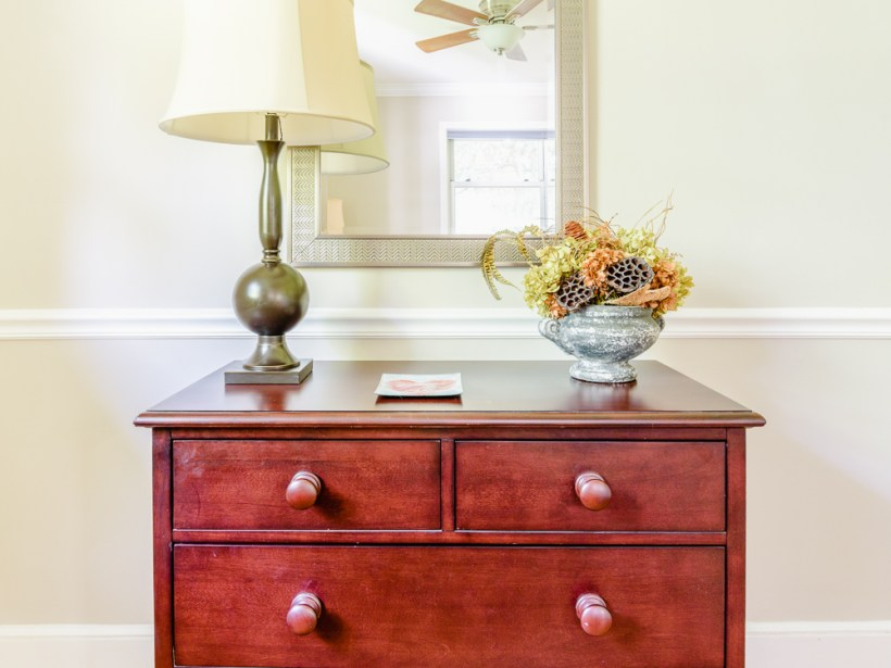 Home Staging pulls a room together and creates a positive feeling for the visitor.