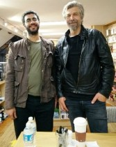 New New York friend and Karl Ove Knausgard (they're both really tall).