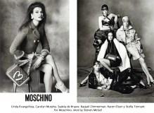05 Linda Evangelista, Carolyn Murphy, Saskia de Brauw, Raquel Zimmerman, Karen Elson y Stella Tennant for Moschino, shot by Steven Meisel