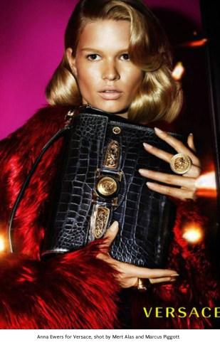 11 Anna Ewers for Versace, shot by Mert Alas and Marcus Piggott