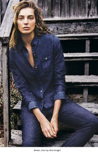14 Daria Werbowy for AG Jeans, shot by Josh Olins