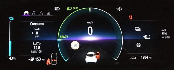 Consumo de 12,8 kWh/100 con Renault Zoe R135 ZE50 tras recorrer 196 km.