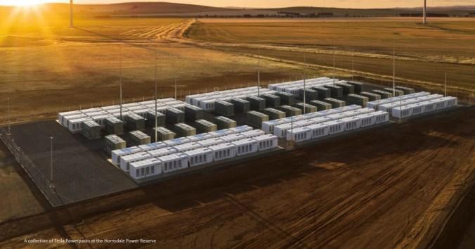Tesla Powerpacks en Horndsdale Power Reserve